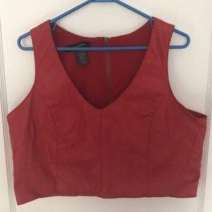 Ashley Stewart Leather Crop Top Vest- Size 14/16